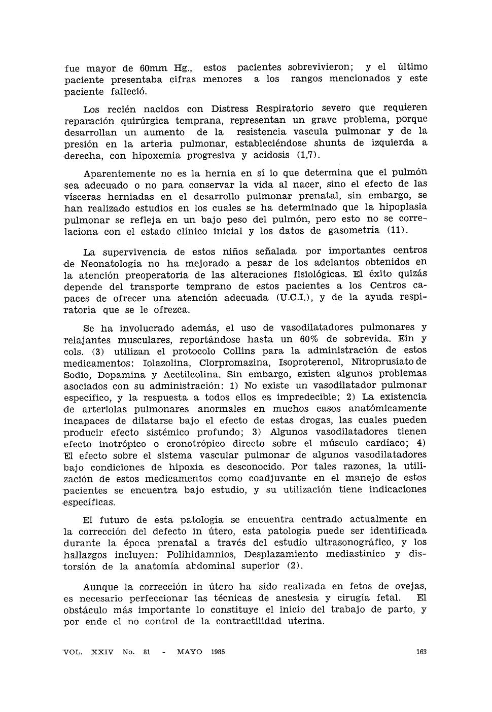 Hernia Diafragmática Congenita: experiencia en el Hospital General ...