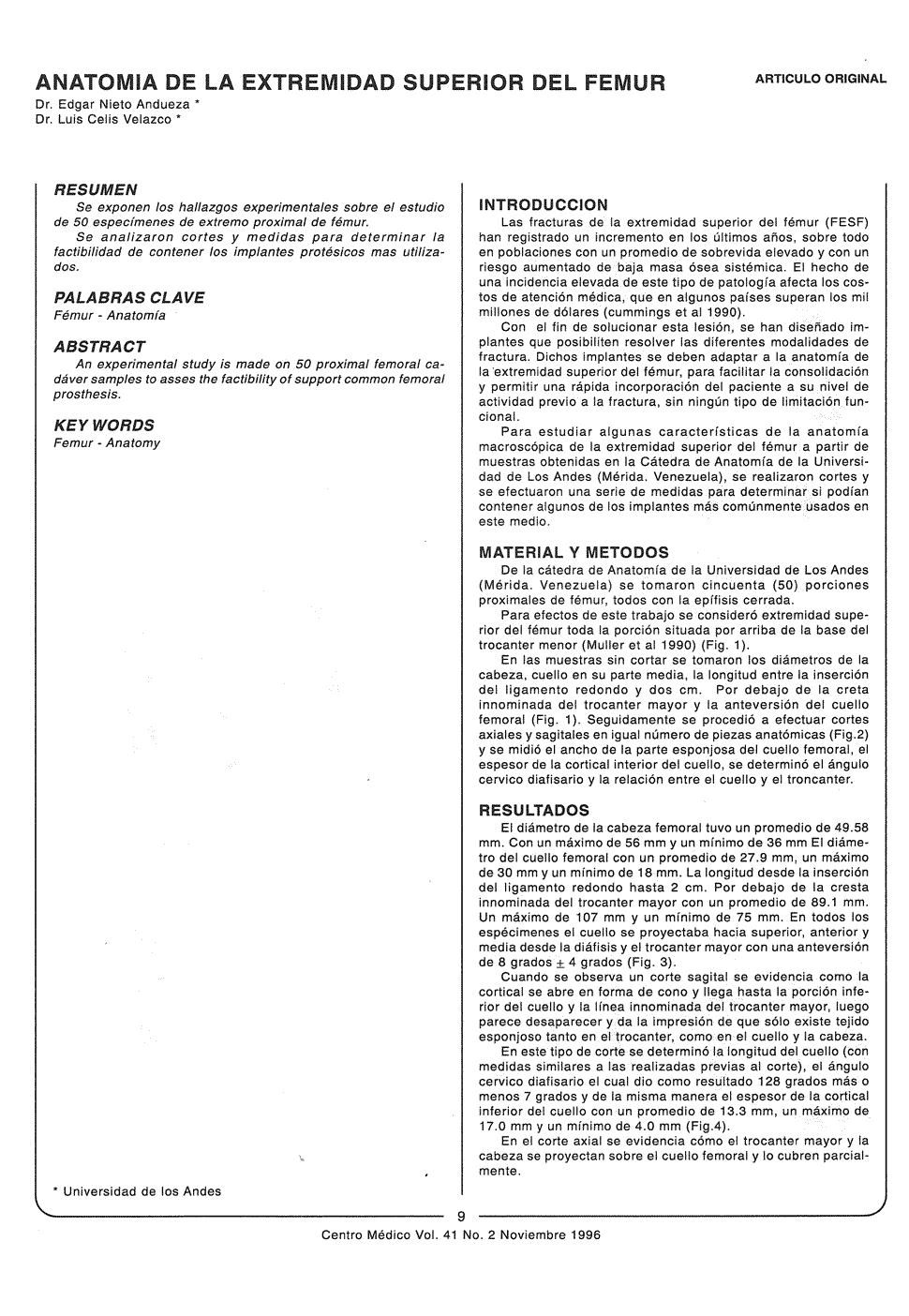 Anatomía de la extremidad superior del fémur