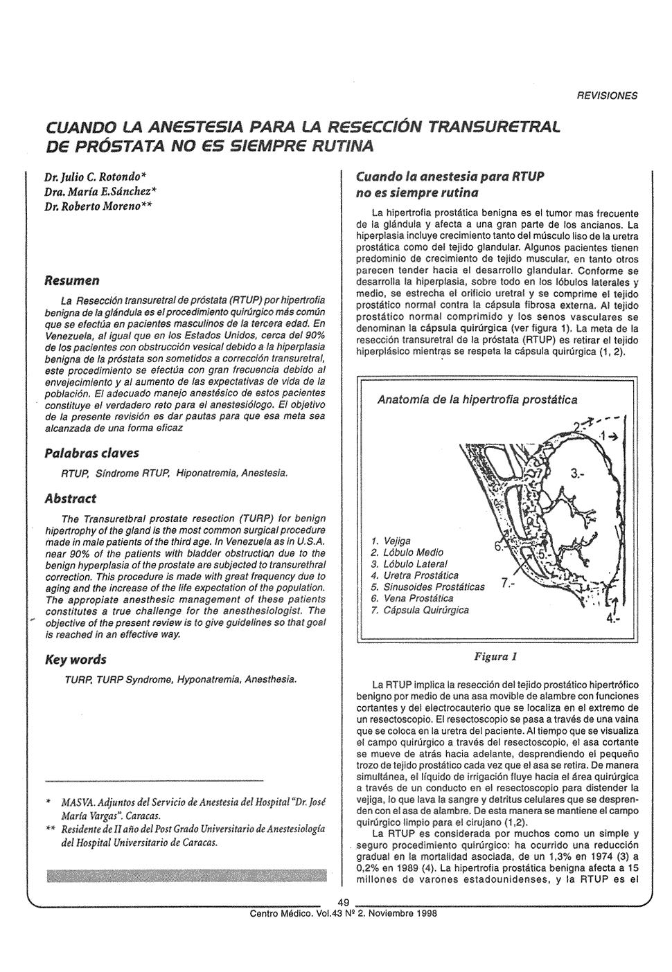 resección transuretral de próstata (turp