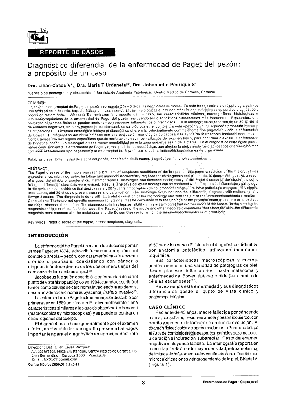 Diagnóstico diferencial de la enfermedad de Paget del pezón: a ...